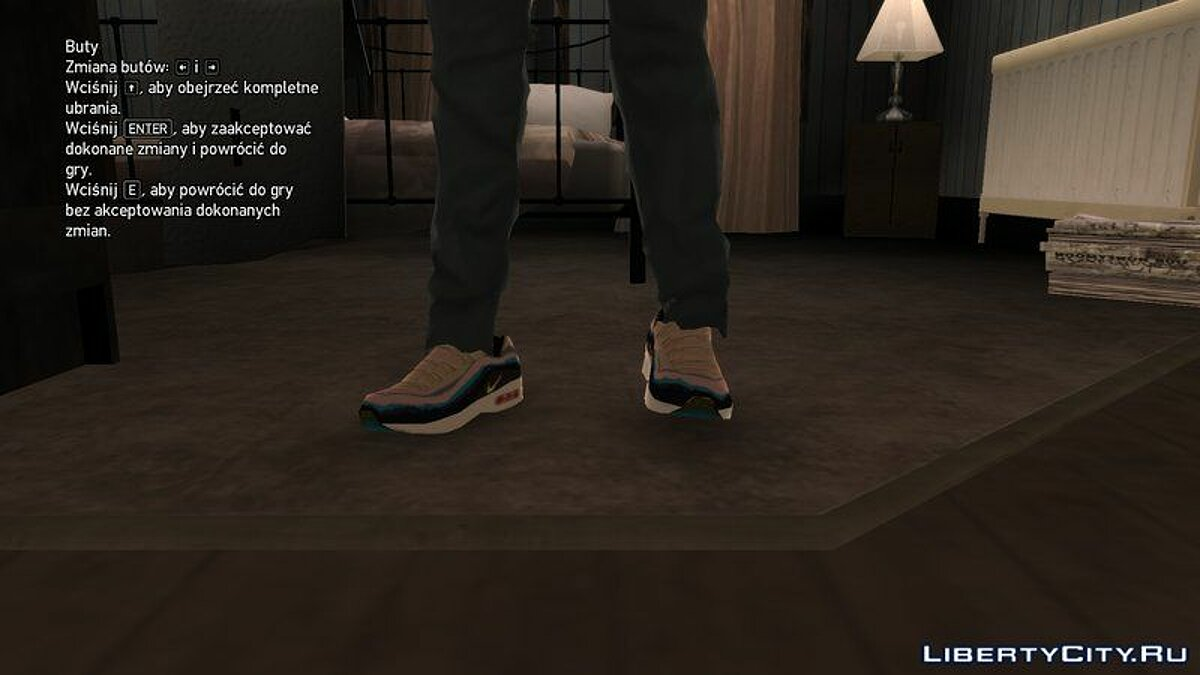 Boots and gloves Nike x Sean Wotherspoon Air Max 1/97 for GTA 4