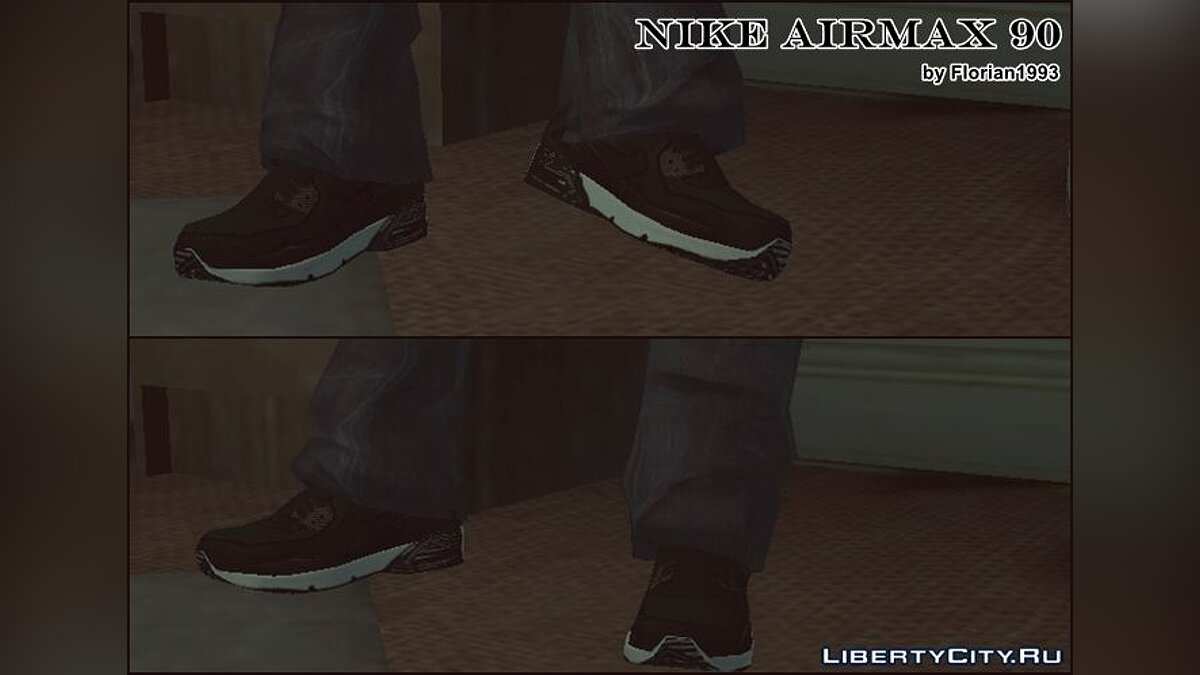 Boots and gloves Black AirMax 90 for GTA 4