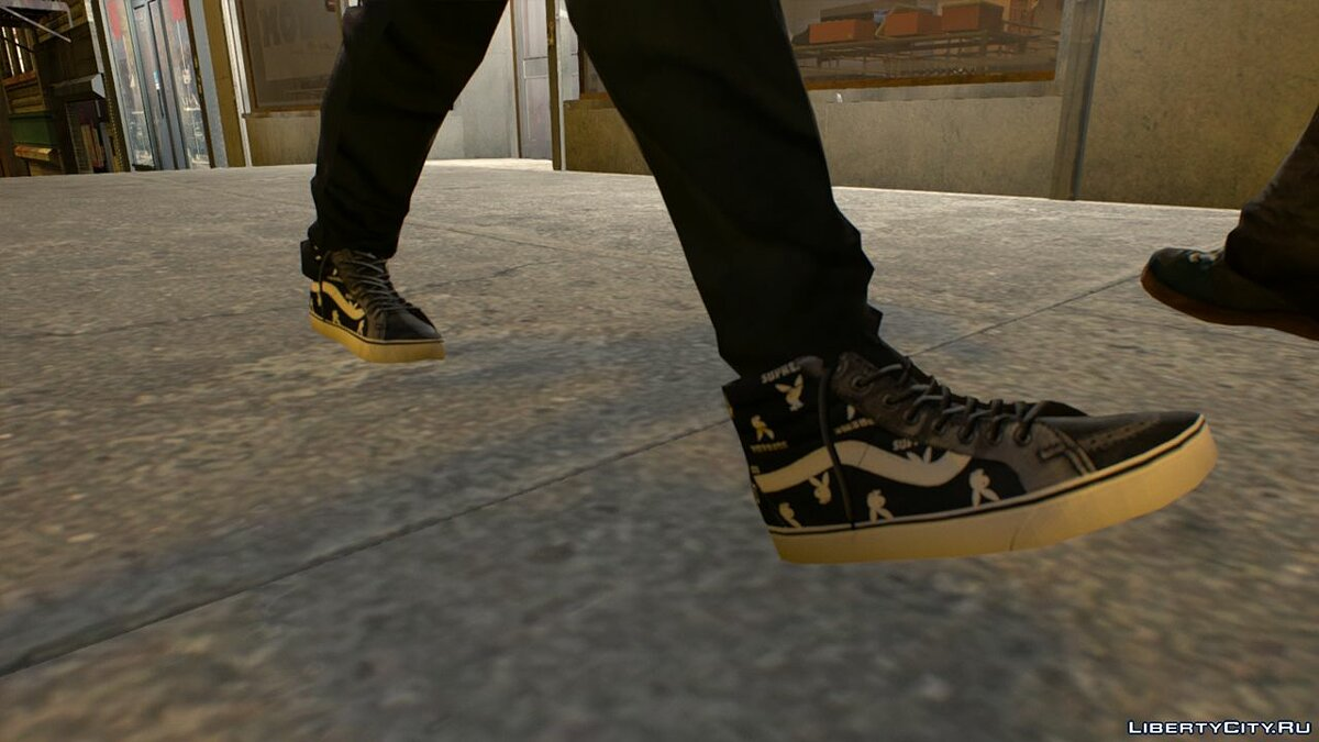 Boots and gloves Vans Sk8-HI For Niko for GTA 4