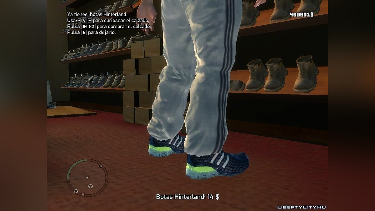 Boots and gloves Adidas Shoes for GTA 4