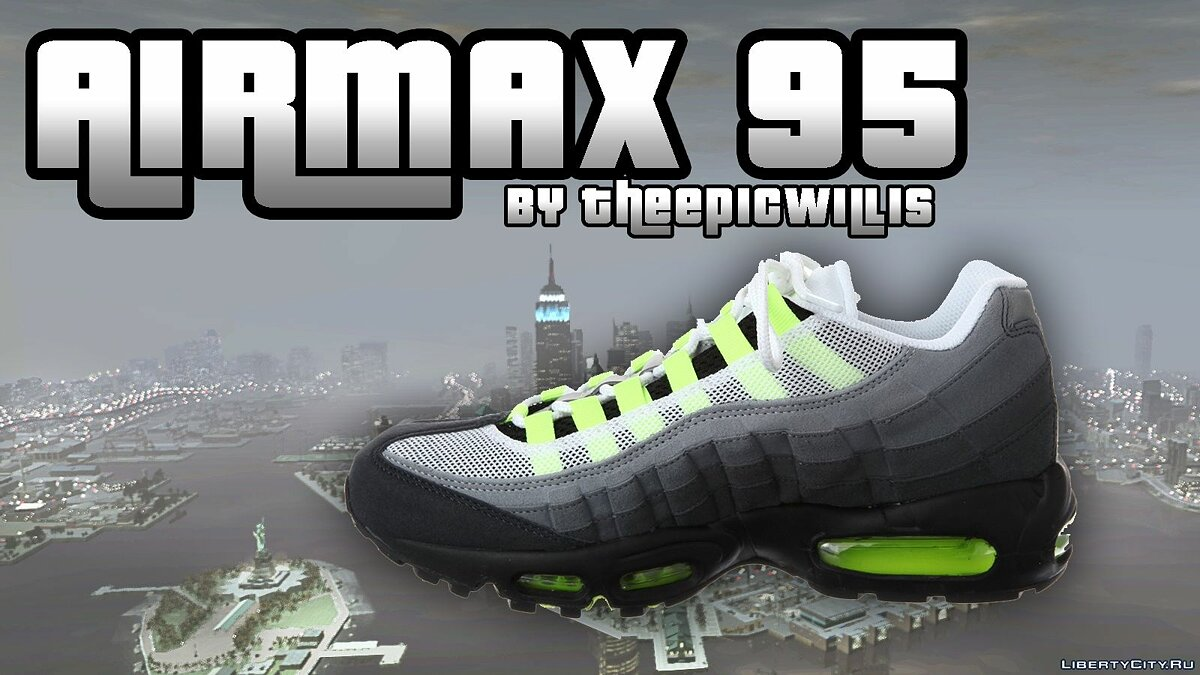 Boots and gloves AirMax 95 Collection v1 (5 variants) for GTA 4