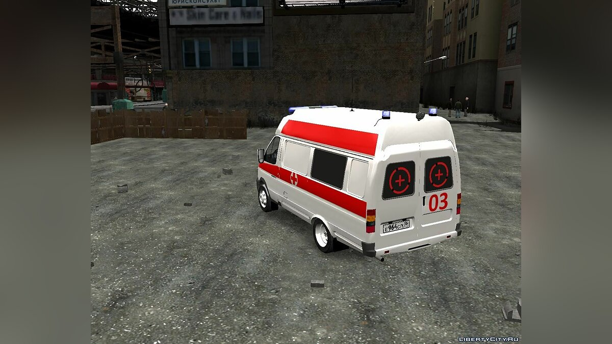 GAZ car GAZelle Ambulance for GTA 4