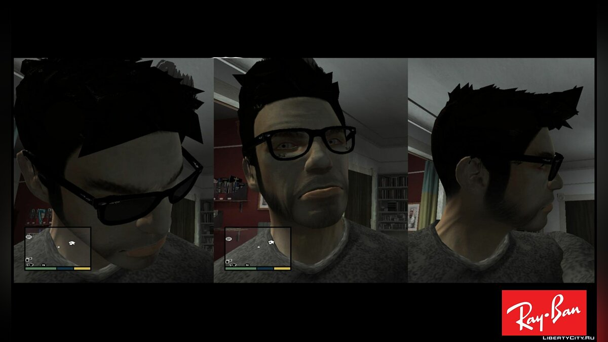 Glasses Ray Ban Wayfarer [TBogT] for GTA 4