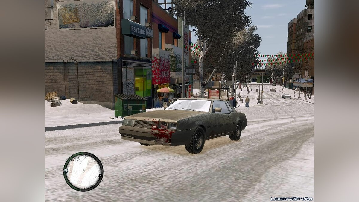 Global mod Winter Liberty V2 - Winter Mod for GTA 4