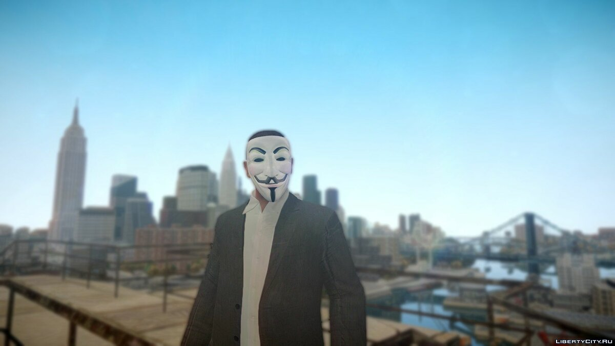 Hats Mask Guy Fawkes for GTA 4