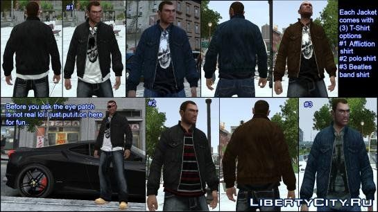 New Denim Jackets For Niko For Gta 4