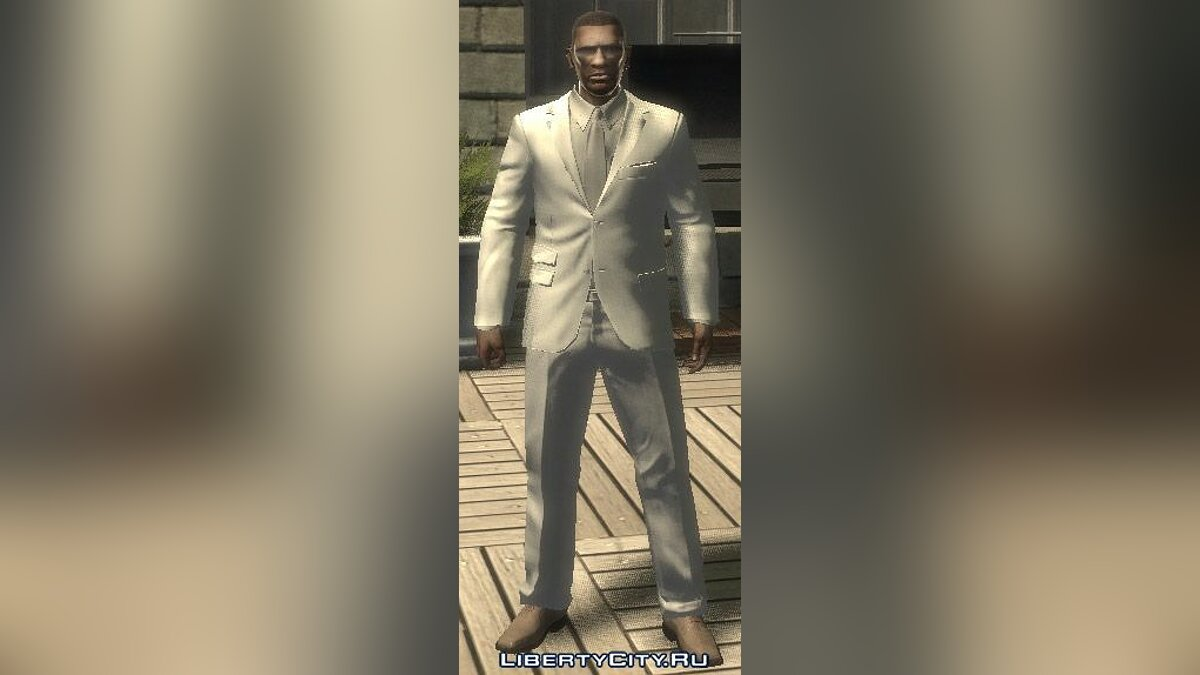 White and gray Suit for GTA 4 - Картинка #1