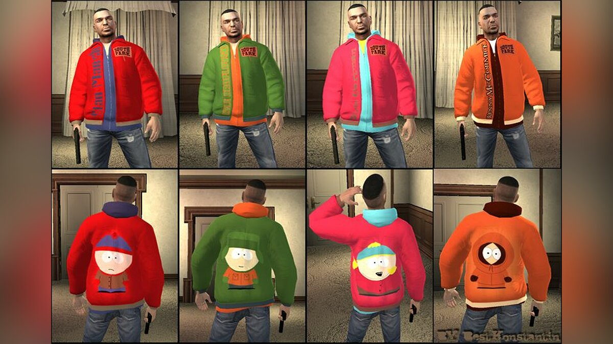 Jackets South Park for GTA 4 - Картинка #1