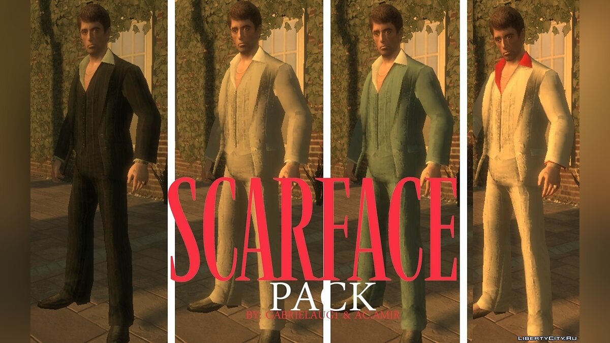 Jackets or suits Scarface Pack for GTA 4