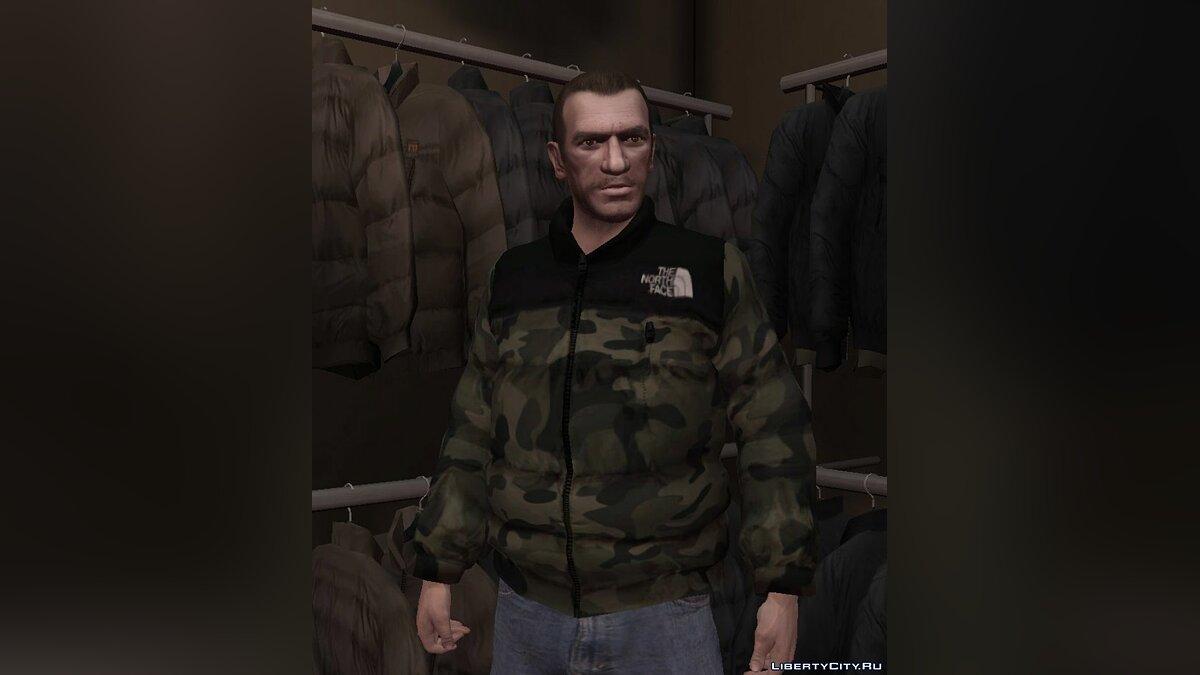 Jackets or suits The North Face 1996 Nuptse Camo Jacket for GTA 4
