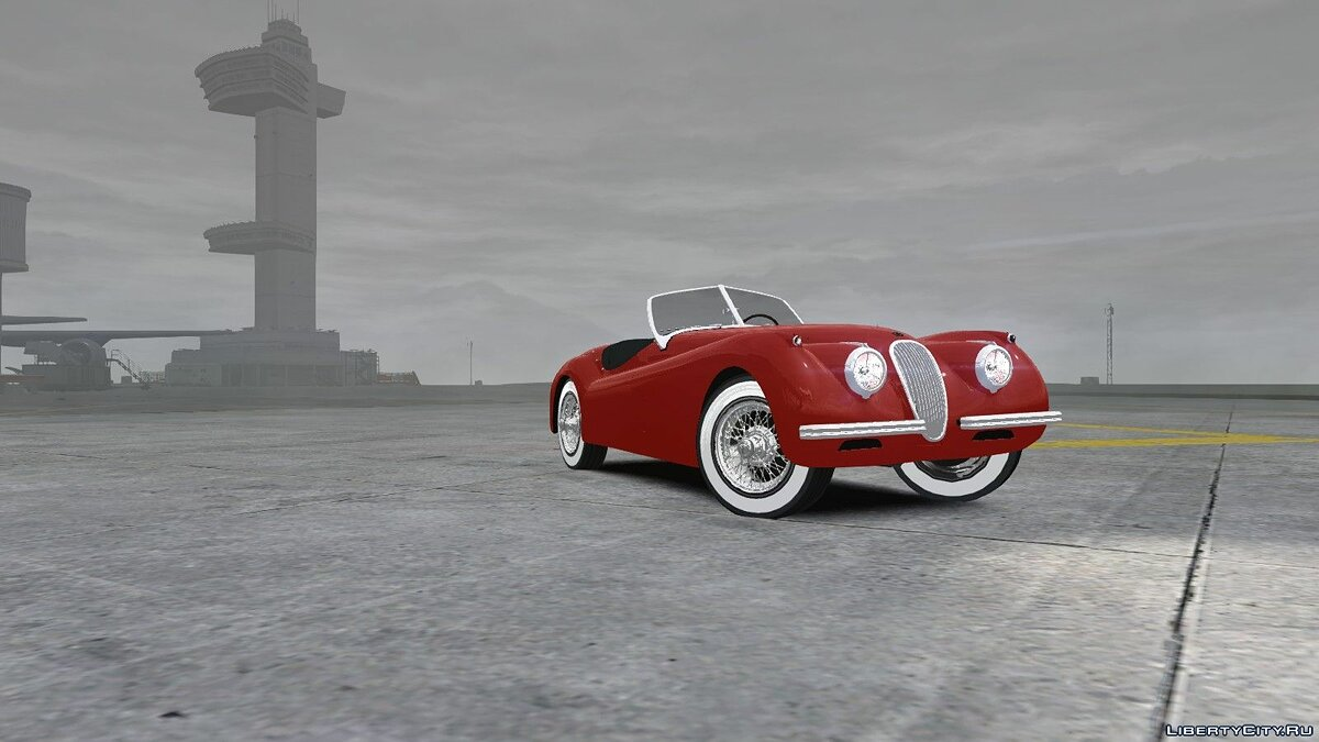 Jaguar car 1954 Jaguar XK120 SE Roadster for GTA 4