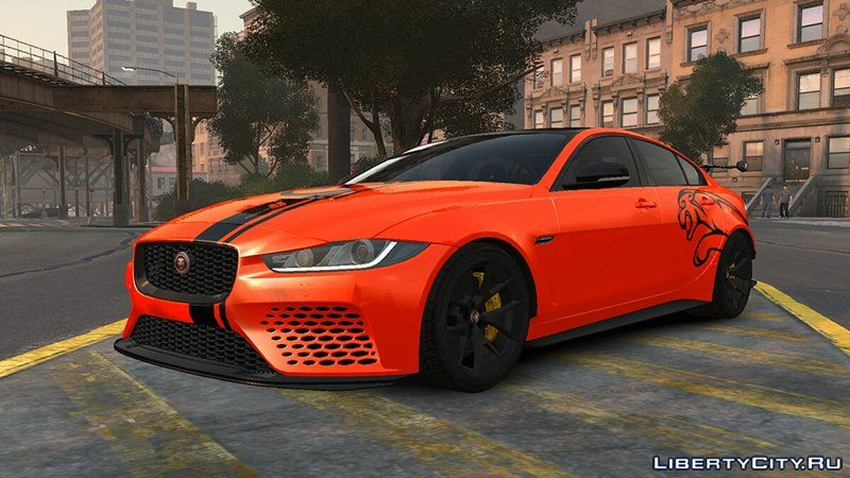 Jaguar car 2017 Jaguar XE SV Project 8 v1.0 for GTA 4