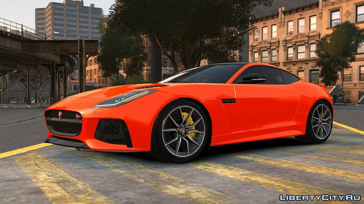Jaguar car 2016 Jaguar F-Type SVR v1.0 for GTA 4