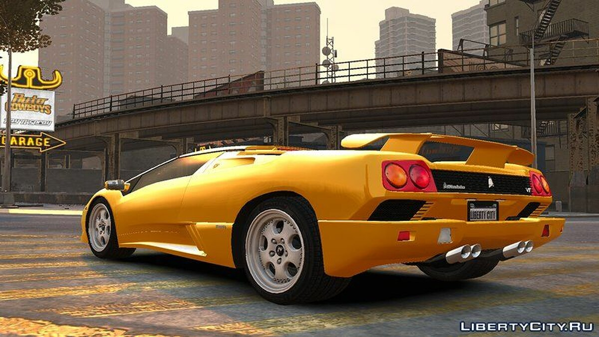 Lamborghini car 1999 Lamborghini Diablo Roadster v1.0 for GTA 4