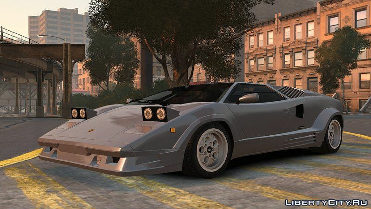 Lamborghini car 1989 Lamborghini Countach 25th Anniversary v1.0 for GTA 4