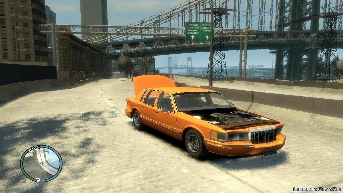 Lincoln car 1991 Lincoln Towncar for GTA 4