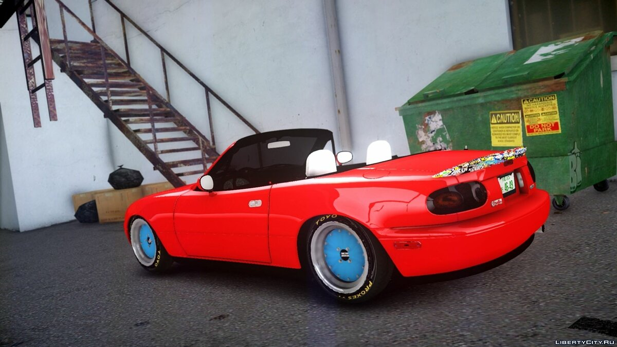 Mazda car Mazda MX5 Modified for GTA 4