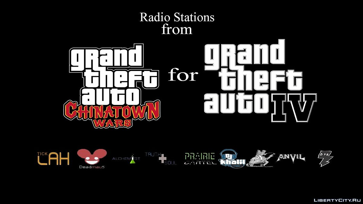Mod Radio stations from GTA Chinatown Wars for GTA 4