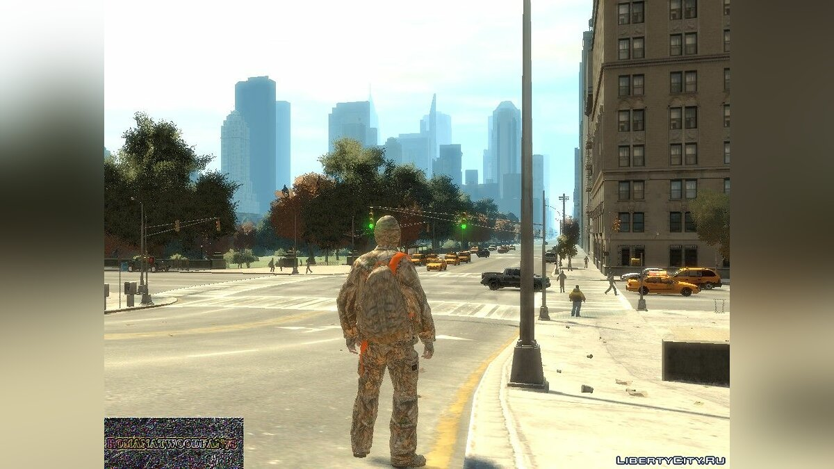 Mod Camouflage backpack for GTA 4