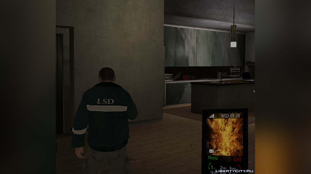 Cellphone Theme flames for GTA 4