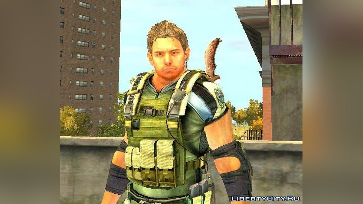 New character Chris Redfield v.2 for GTA 4