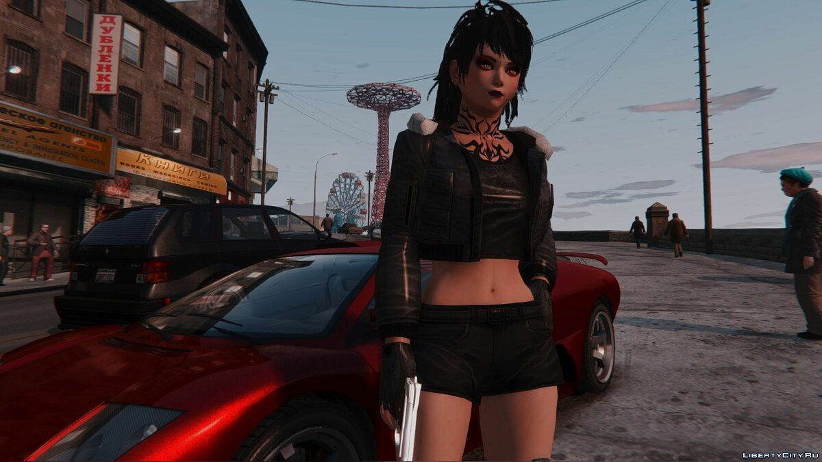 New character Eliza Goth from Tekken 7 for GTA 4