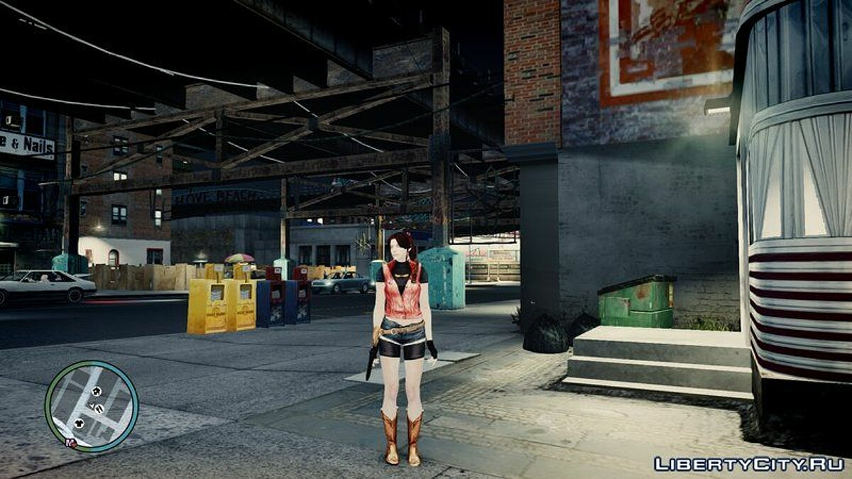 New character Claire Redfield for GTA 4