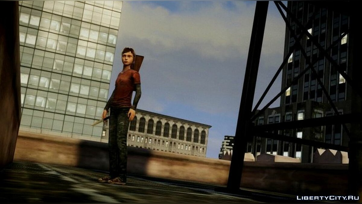 New character Ellie from The Last of us for GTA 4