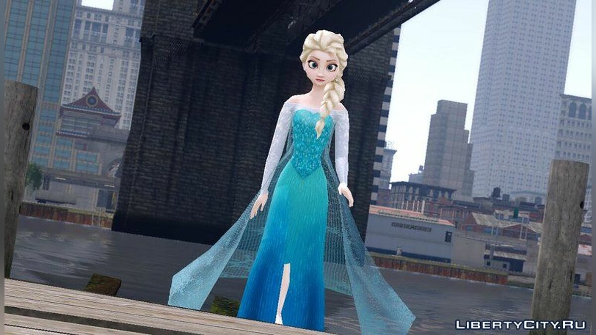 New character Frozen Elsa for GTA 4
