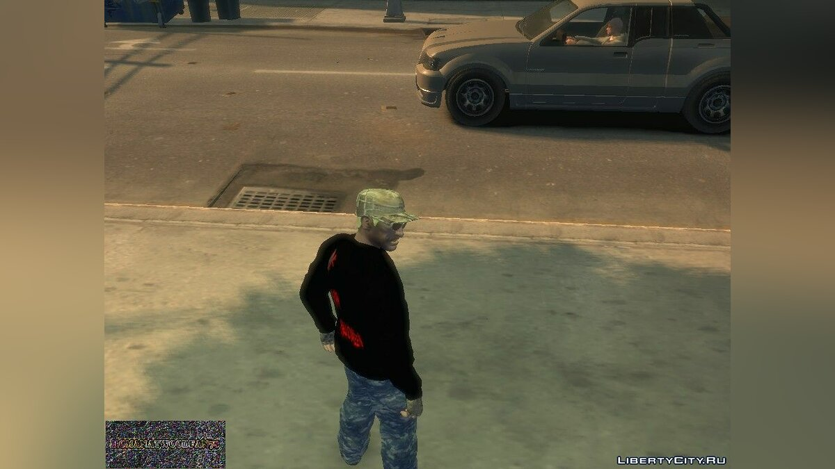 Pants Blue camouflage pants for GTA 4
