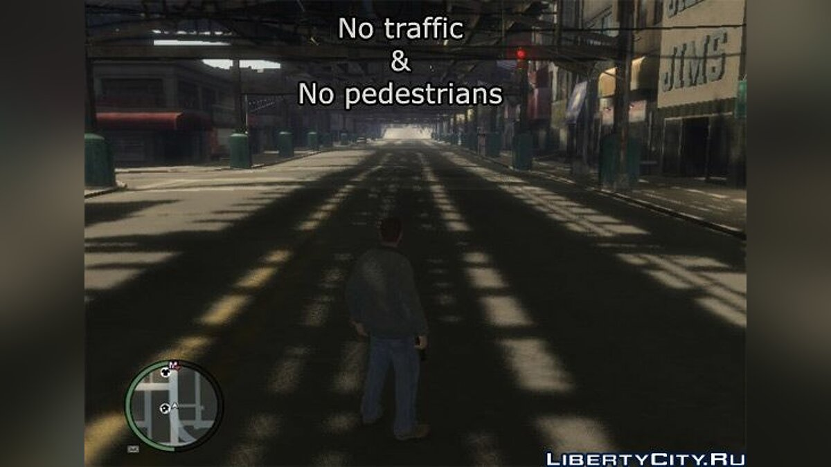 No traffic and no pedestrians for GTA 4