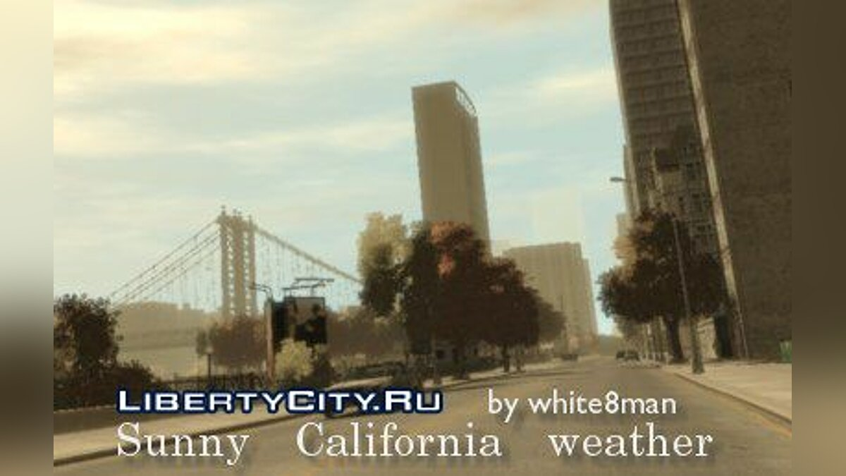 Sunny California weather for GTA 4 - Картинка #1