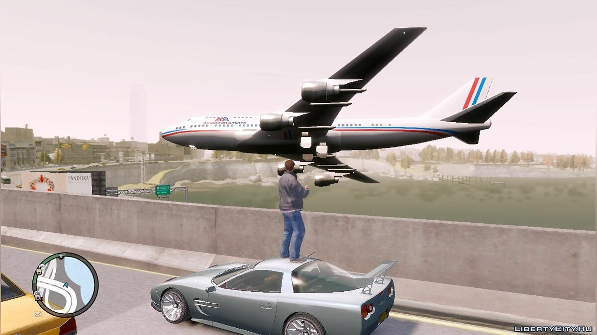 Mod New airplane route for GTA 4