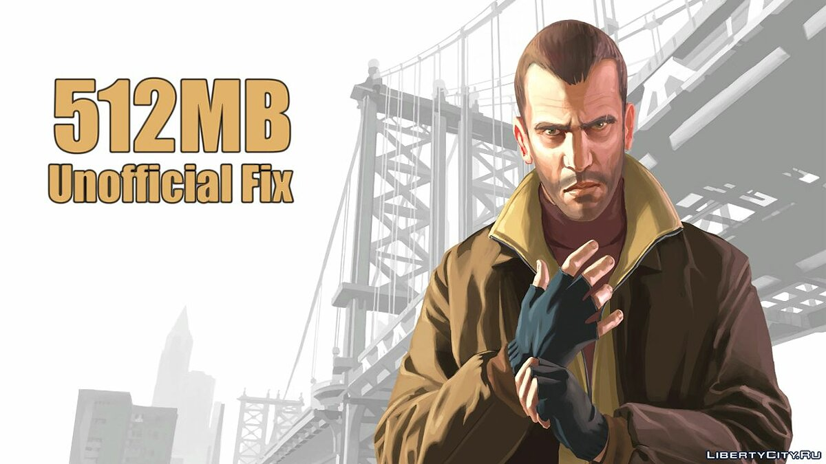 Patch Unofficial patch for the 512 MB limit in graphic settings for GTA 4