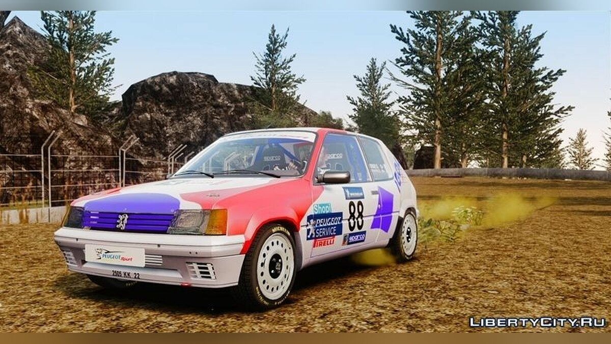 Peugeot car Peugeot 205 Rally for GTA 4