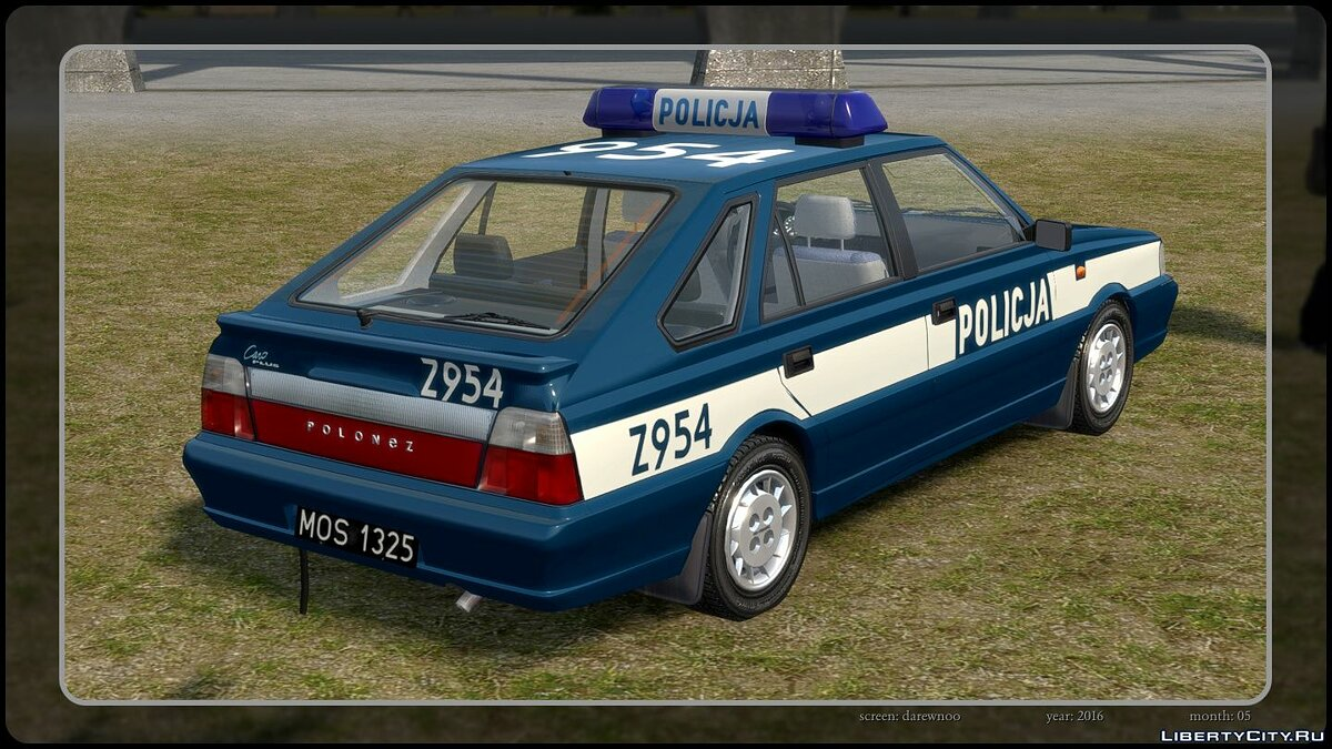 Police car Daewoo-FSO Polonez Caro Plus Policja 1997 for GTA 4