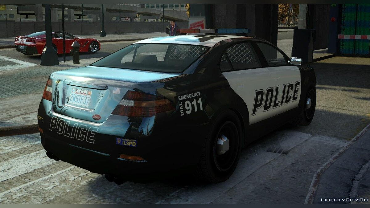 Police car Vapid Police Interceptor из GTA 5 (Non-ELS) for GTA 4
