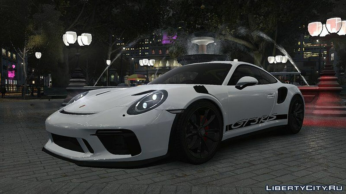 Porsche car 2018 Porsche 911 GT3 RS v1.0 for GTA 4