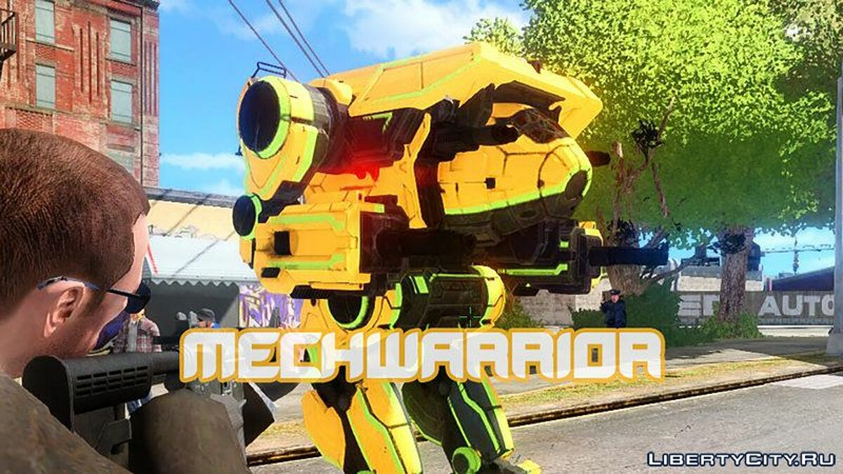 Script mod Модель Direwolf из MechWarrior Online for GTA 4