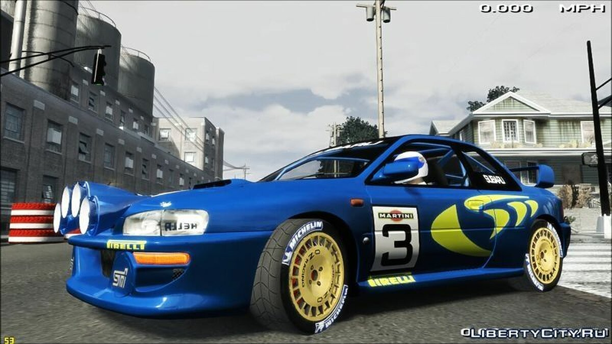 Subaru car Subaru Impreza Rally WRC 1998 + Sounds v2015 for GTA 4