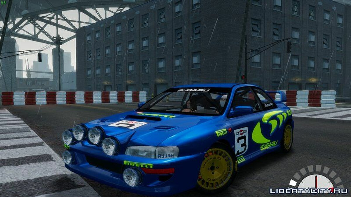 Subaru car Subaru Rally WRC Impreza 98 for GTA 4
