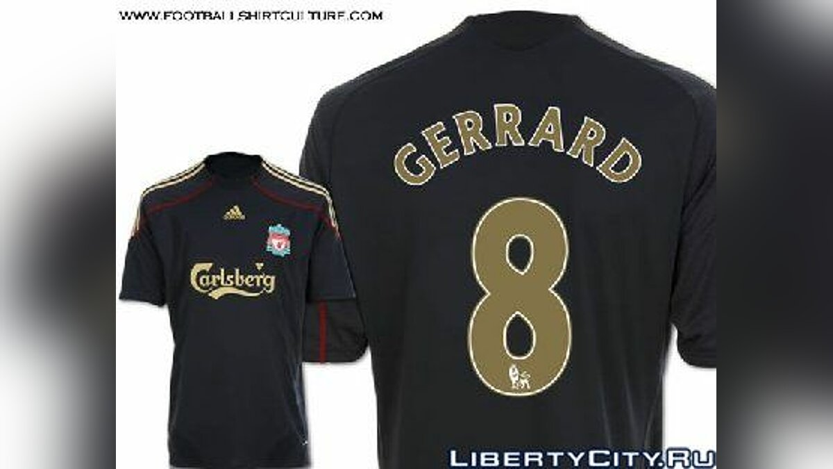 Pullovers and T-shirts Gerrard Liverpool Shirt for GTA 4