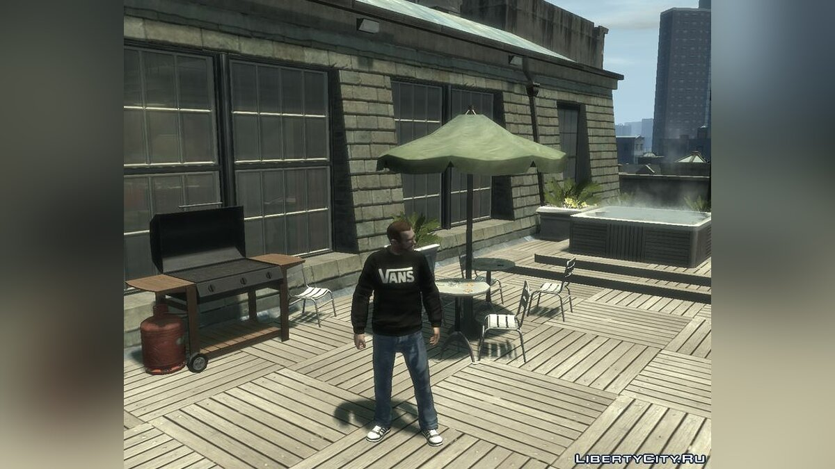 Pullovers and T-shirts VANS Original Sweater Black & Gray for GTA 4