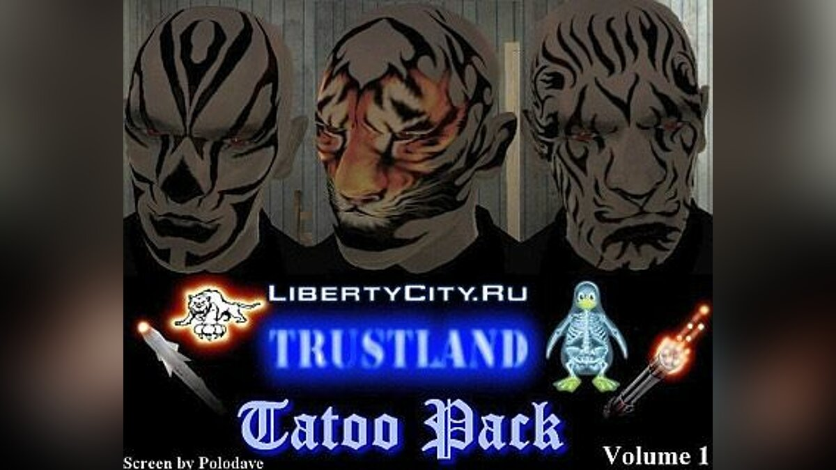 Tattoos Tattoo pack v1 for GTA 4