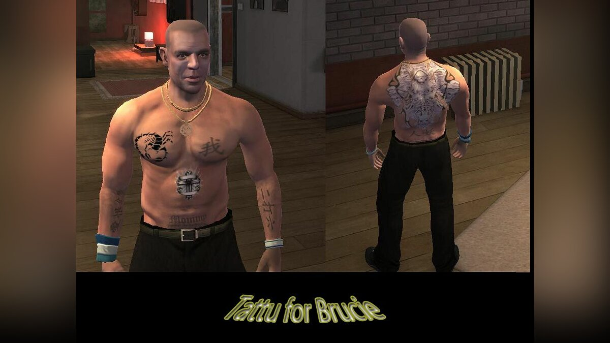 Tattoos Tattoos for Brucie for GTA 4