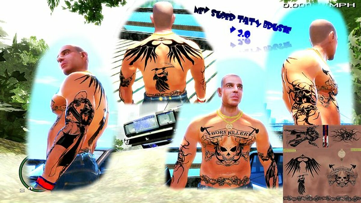Tattoos Tattoos v.2 for GTA 4