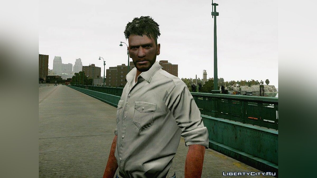 Texture mod Halfboxing hairstyle and a small beard for Niko for GTA 4