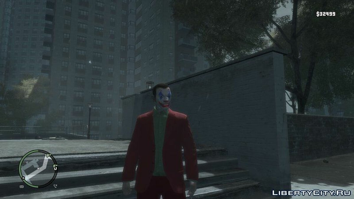 Texture mod Joker from the movie 2019 for GTA 4