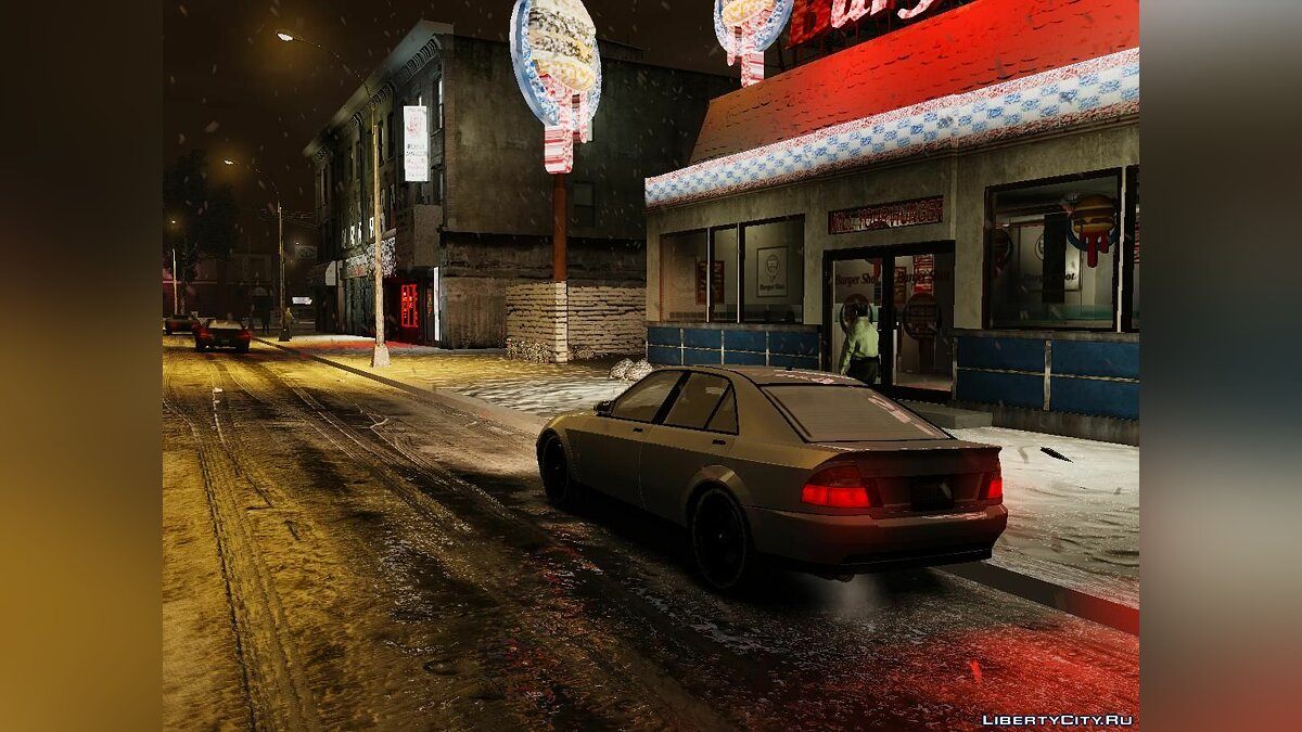 Texture mod Winter Liberty Props - Winter Mod for GTA 4