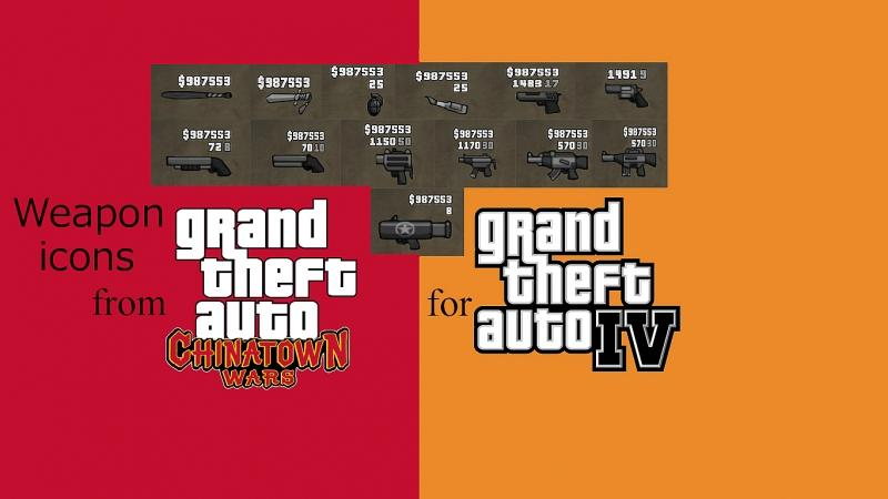 Texture mod Weapon icons from GTA CTW for GTA 4